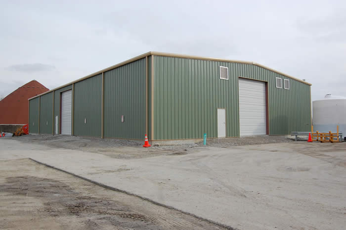 Maintencance Building with overhead door