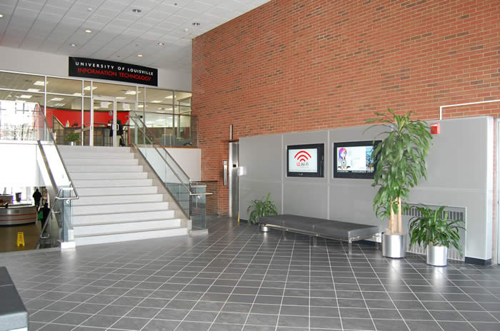 Interior stairway at University of Louisville